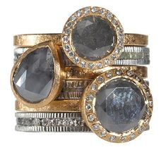 Todd Reed Stack Rings Love the smoky gray!