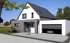 avec Exterior House Colors, Exterior Design, Cottage Extension, Home Id, Garage Door Design, Modern Front Door, Modern Mansion, Minimalist Architecture, Dream House Plans