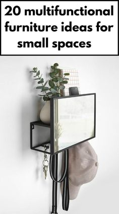 Wall organizer with mirror, hooks, and shelf