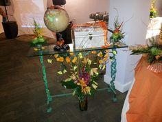 Mesa para las tarjetas y el globo para que los invitados nos escribieran sus deseos.