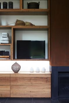 Hare + Klein there's no place like home. Luxury Living Room Design, Interior, Fireplace Bookshelves, Joinery Design, Loft Decor, Living Room Wall Units, Room Divider Bookcase, Fireplace Parts, Shelving Design