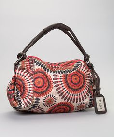 Take a look at this Red Floral Tribal Tote by Treska on #zulily today!