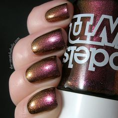 Models Own Beetlejuice Pinky Brown nail polish