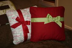 quilted christmas pillow   These were quite fun to make ... at least the first 10 ... there will ...