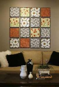 Have a lot of scrapbook paper around, but not really into making a scrapbook? There are so many others things you can do with beautiful and colorful paper!!Wall Art This is so easy! Either use frames...