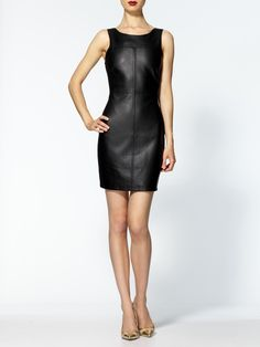 """I'm obsessed with leather, even """"vegan leather"""" such as this dress."""