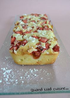 Fondant aux fraises et au mascarpone - Recetas French Desserts, No Cook Desserts, Delicious Desserts, Dessert Recipes, Yummy Food, Thermomix Desserts, Strawberry Recipes, Fondant Cakes, Yummy Cakes