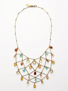multi-colored bib necklace by Wendy Mink