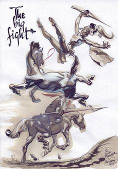 Al Severin - The Big Fight, in Rob Stolzer's Severin, Al Comic Art Gallery Room