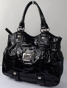 guess handbags | New Guess Skylar Black Women's Satchel Bag Handbag - Handbags ...