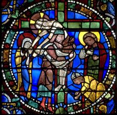 Stained glass Windows of Cathedral of Chartres, France - A UNESCO World Heritage…