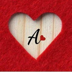 A Alphabet Letter Dp Pics Wallpaper For - Diy Crafts Love Images With Name, Love Heart Images, Cute Love Images, Cute Love Quotes, Love Pictures, Romantic Love Quotes, Girly Pictures, A Letter Wallpaper, Wallpaper Iphone Love