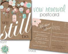 Vow renewal - how cute!  my favorite invite idea so far! :)
