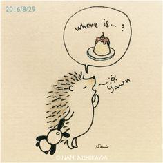 "namiharinezumi: "" 954 ふわぁ〜。プリンどこ…? Yawn. Where is my flan? """