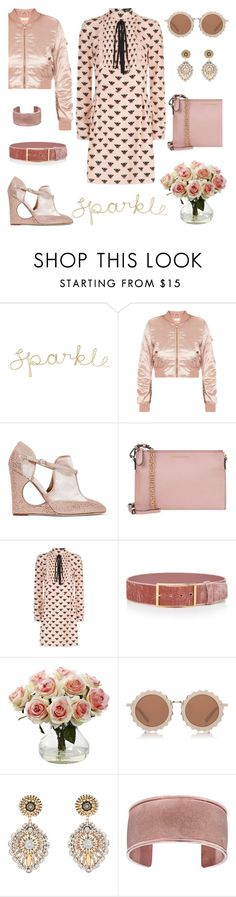 """Rose glitter"" by pensivepeacock ❤ liked on Polyvore featuring Valentino, Burberry, Markus Lupfer, Elie Saab, Nearly Natural, House of Holland and Miguel Ases"
