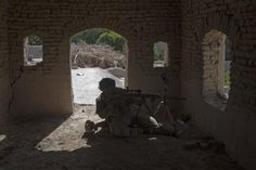 The 82nd in Afghanistan -- A U.S. sniper from 5-20 infantry Regiment attached to 82nd Airborne takes a position in Zharay district in Kandahar province, April 25, 2012.   REUTERS/Baz Ratner