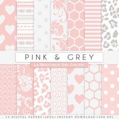 Pink and gray digital paper. Pink digital paper pack of pink grey backgrounds patterns baby girl patterns for commercial use clipart #BabyScrapbookIdeas #BabyScrapbook #BabyGirl #DigitalPaper #ScrapbookPaper pink gray grey pink and grey pink and gray digital paper pink digital paper gray digital paper grey digital paper pink patterns pink grey pink gray baby girl 0.95 GBP