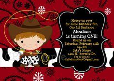 Cowboy Birthday Invitation Cowboy