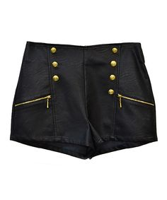 Super cute nautical-inspired faux leather shorts