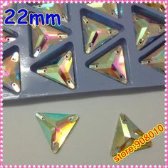 Wholesale Loose Diamonds - Buy 22mm Triangle Flatback Sew on Crystal Rhinestones Crystal AB Color ,sew on Stones for Dress Ma, $0.37 | DHgate Beading Ideas, Beading Supplies, Crystal Rhinestone, Rhinestones, Triangle, Diamonds, Abs, Buttons, Crystals