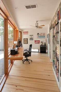 Utilizing Narrow space for a Contemporary Home Office by Murray Legge Architecture