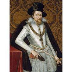 Portrait of King James VI of Scotland James I of England Canvas Art - John De Critz (18 x 24)