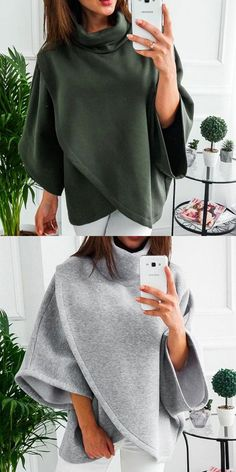 Cheap Leisure Warm Irregular Long Sleeve High Collar Women Sweater Coat For Big Sale! Cardigan Sweaters For Women, Sweater Coats, Cardigans For Women, Dress Coats For Women, Fall Fashion Trends, Autumn Fashion, Winter Coats Women, Fall Coats, Women's Coats