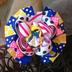 Smurfette Boutique Hair Bow by MegansHairCandy on Etsy, $12.50