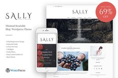 Sally - Minimal Readable Blog Theme by Weekend on @creativework247