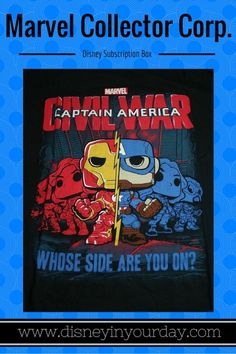 Marvel subscription box - Disney in your Day - the Captain America Civil War box!