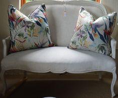 Newly upholstered in a cream Hertex fabric Hertex Fabrics, Renaissance, Throw Pillows, Cream, Antiques, Store, Bed, Home Decor, Creme Caramel
