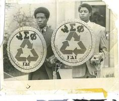 "Frat Brothers M.Hill and E.Jackson,Jr. in ""Hell"" standing watch... way back in the day in the day...""they went through it and got to it""...SAYGENT my Frat Brothers...."