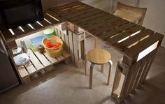 Pallets Kitchen installation #KitchenIsland, #Pallets