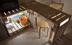 Pallets Kitchen installation #KitchenIsland, #Pallets