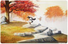 Kung Fu Panda watercolor. #fanart Po and Shifu training.