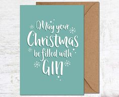 Gin Christmas Card, Alcohol Christmas Card, Funny Christmas Card, Foodie Christmas Card, Gin Lover Card, Friend Christmas Card, Xmas Card Set, Girlfriend Christmas Card, Mum Christmas Card, Christmas Card Pack, Party Christmas Card, Drink Christmas card  Send a lovely greetings card - perfect for the festive season!  This Christmas card is blank inside for your own message, and comes with a kraft envelope. Please note this listing is for a single card only…