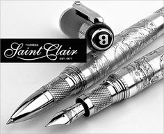 Fountain pen collectibles from #omas  #montegrappa #aurora