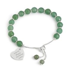 The classic style of this delicate bangle adds a lovely accent to any ensemble. A stylish and secure slide closure adds an element of chic and is perfect for those with petite wrists. https://www.thingsremembered.com/gemstone-facet-bracelets/product/655565?fcref=pinterest