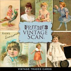 Nueva Freebies Kit de Oficios Vintage Tarjetas