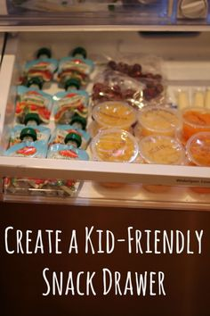 Kid Friendly Snack Drawer Brought to you by Del Monte