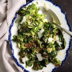 Brussels Sprout & Farro Salad // Susan Spungen. Find this #recipe and more on our Brussels Sprouts Love Feed at https://feedfeed.info/brusselssprouts?img=123558 #feedfeed