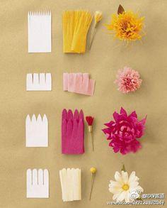 Tissue paper flowers :)