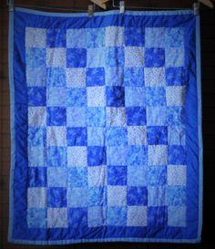 Rhapsody in Blue Quilt #214 by PBandJ on Etsy