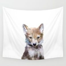 Little Wolf Wall Tapestry