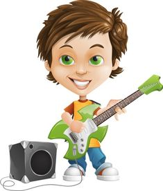 boy with guitar character clipart free Boy Cartoon Characters, Vector Characters, Free Characters, Cartoon Boy, Guitar Clipart, Character Creator, Action Poses, Free Illustrations, Rock Stars