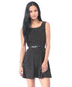 Confetti Print Dress | FOREVER21 - Don't like the look on her face so much, but I like the dress.