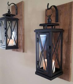 Wall mounted hanging lanterns