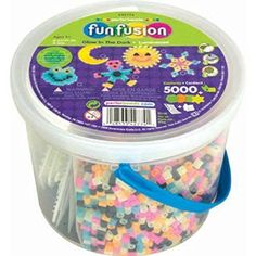 Perler Fun Fusion Fuse Bead Bucket, Glow in The Dark, 2016 Amazon Most Gifted Beading & Jewelry Making  #Arts-And-Crafts