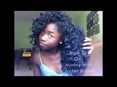 How To Curl Marley Hair Crochet Braids!