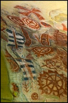 Native American Cachuma Indian cave paintings,   Painted Cave State Historic Landmark, near Santa Barbara, California